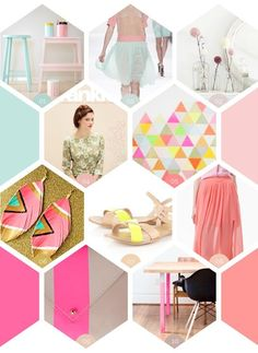 pastels and neon